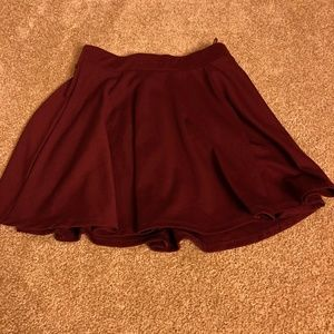 Dresses & Skirts - Maroon skirt in size small